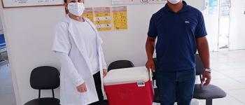 No dia 01/10/2021 recebemos um quantitativo de 99 doses de vacina contra a COVID 19.