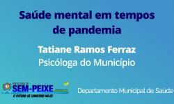 Saúde mental em tempos de pandemia